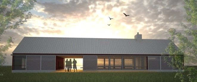 Longhouse Dogtrot Floor Plan 2 Bedroom Architect