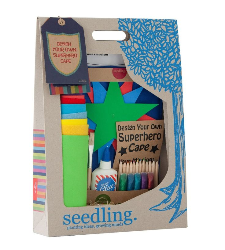 Seedling Create Your Own Super Hero Cape Craft Kit | Create your own super hero cape then up & away. #Seedling #kidsgiftsau #kidscraftau #superhero #cape
