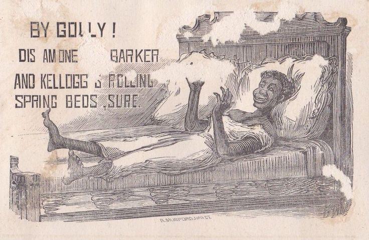 1800's Baker & Kellogg Sewing Machine Co. Boy, Birds Black Americana Trade Card