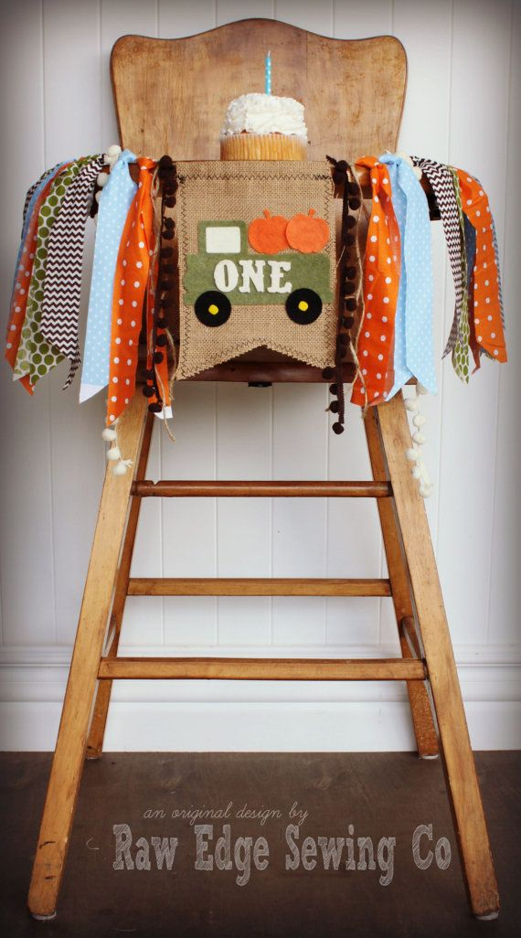 Hey, I found this really awesome Etsy listing at https://www.etsy.com/listing/249271938/pumpkin-truck-birthday-age-high-chair