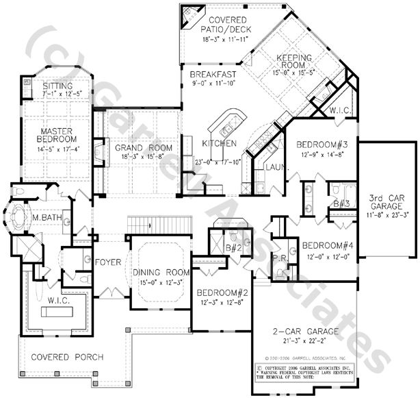 04052 Franciscan House Plan Floor Plan Ranch Style