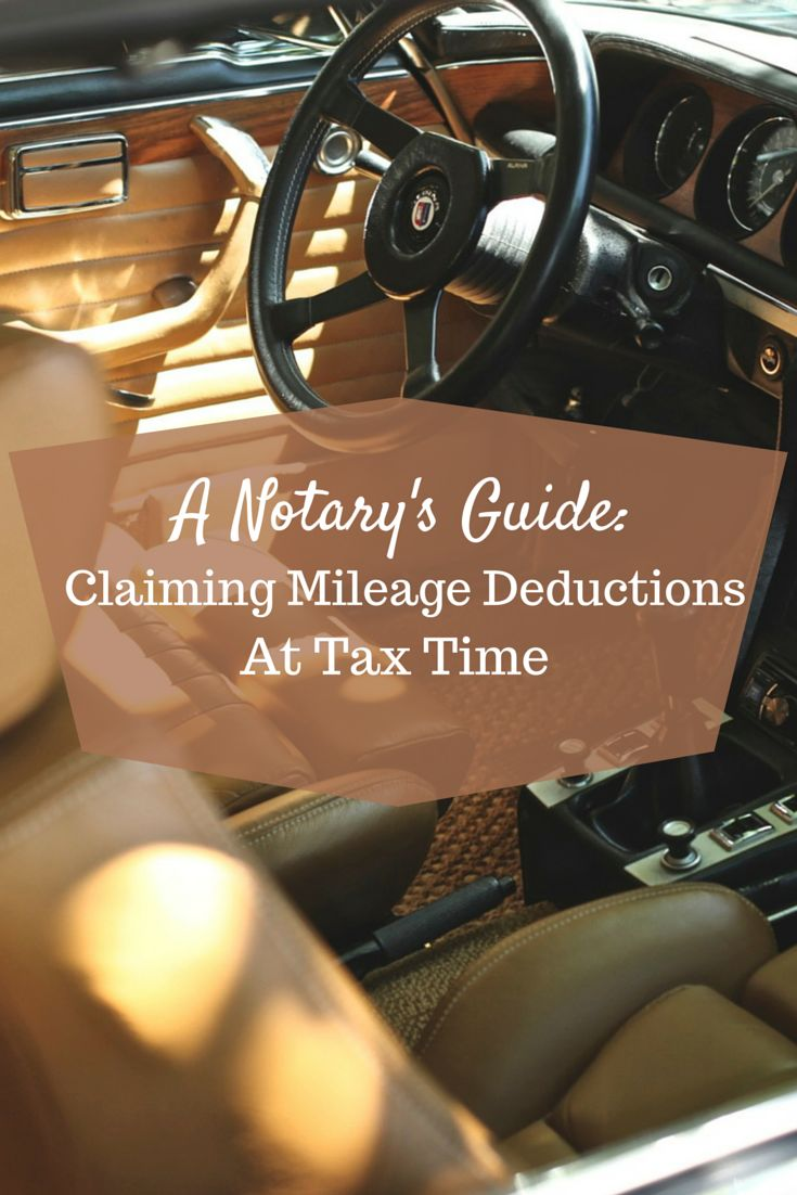 Attention All Mobile Notaries! Do You Know How To Properly Track Your  Travel Deductions For