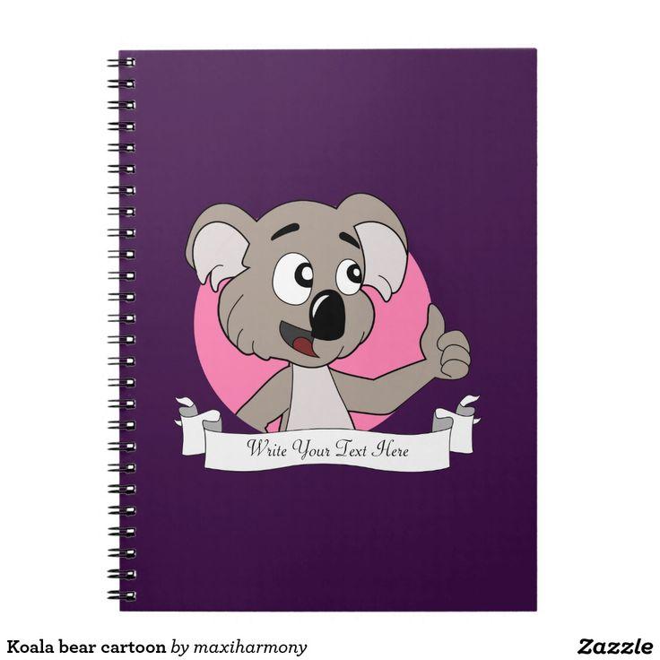 Koala bear cartoon note book