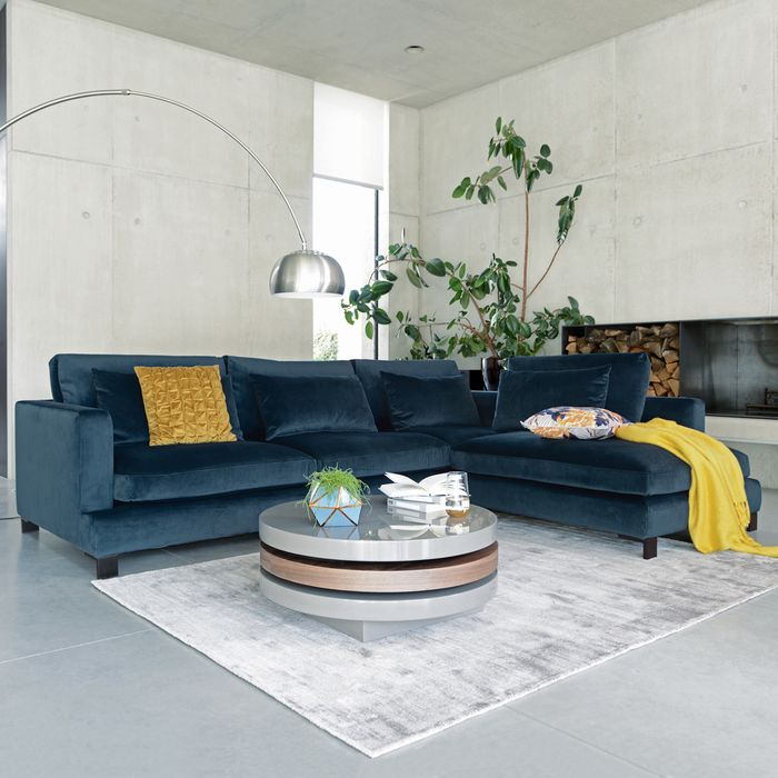 The Lugano Is A Beautiful New Sofa Range The Combination Of The Deep Seating And The Extra In 2020 Corner Sofa Design Corner Sofa Living Room Velvet Sofa Living Room