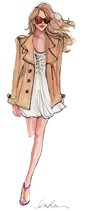 I love the illustrations of Inslee Haynes... inspirations from daily life where fashion is all around...  Her paints are amazing ... the stylish women can't wait to check her site!!