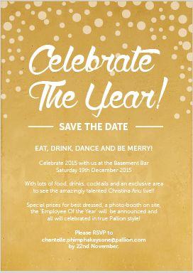 Gold Graphics - Champagne, Celebrate the date