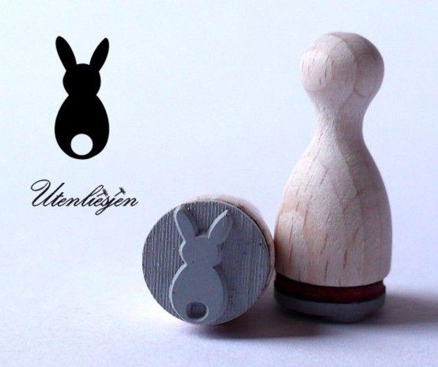 Stempel - Hase von hinten - Stempel - ein Designerstück von Utenliesjen bei DaWanda
