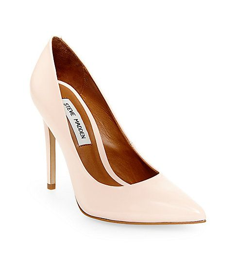 Emily Madden: Steve Madden, PROTO Pointed Heels In Light Pink Leather