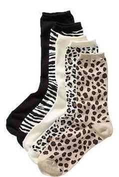 Comfy animal print socks