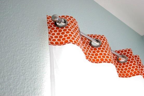 grommet curtains (DIY)