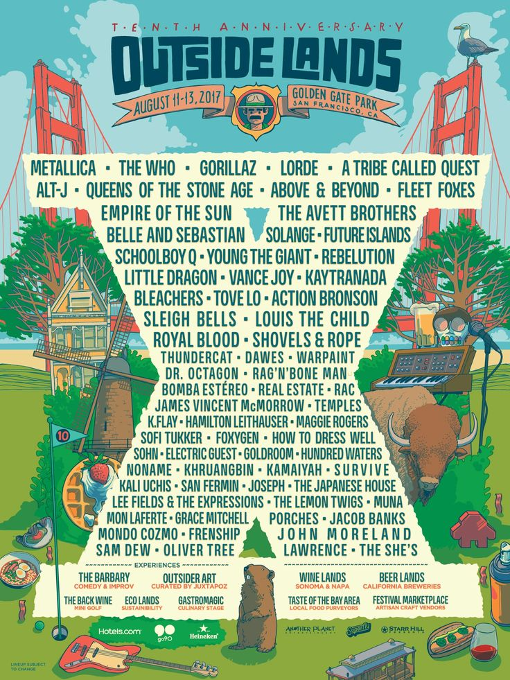 Here is our Top Ten Bands to check out at Outside Lands 2017. Make sure to pick up your tickets!