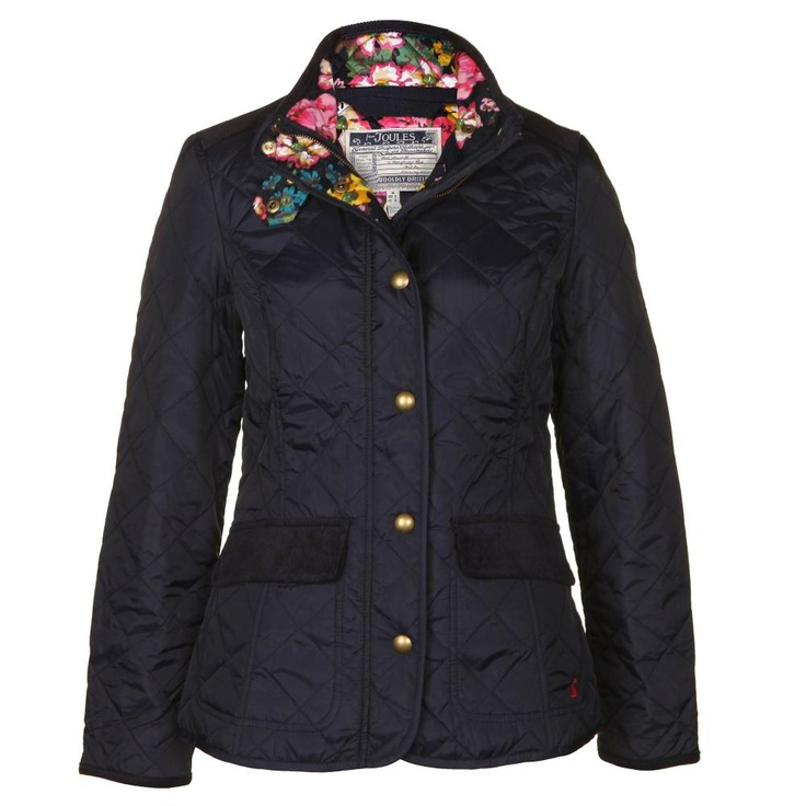 Joules Womens Moredale Navy Blue Quilted Jacket