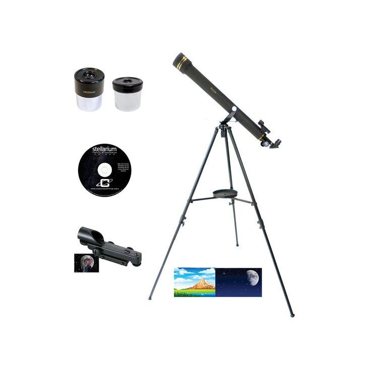 Galileo 700x60 Refracting Telescope - Black