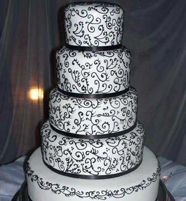 tortas de boda decoradas en blanco y negro - Buscar con Google