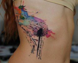 I love the idea of a tatoo without the harsh dark lines! Like a painting on ur body!