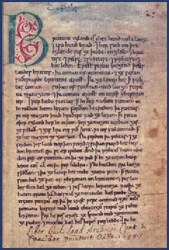 The Anglo-Saxon Chronicle  The Anglo-Saxon Chronicle began to be compiled in around 890 A.D., at the command of King Alfred the Great (871- 899) and consists of a series of annals written in the Old English language.