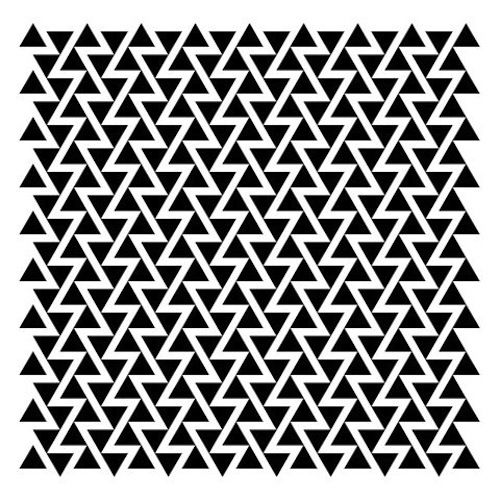 triangle geometric black and white pattern design