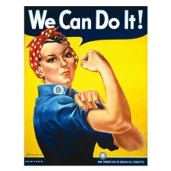 We can do it! Rosie Rivetter vintage poster