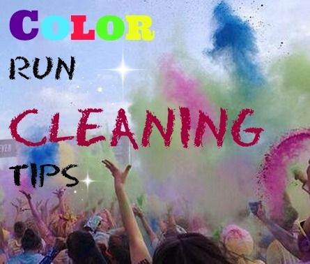 Blog post at Madame Deals, Inc. : Color Run Cleaning Tips   I finally did it I went to a color run. I decided to try out the Color Me Rad race. I was so excited. I had ev[..]