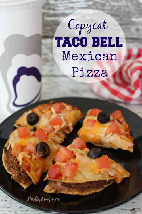 Food Recipe Mexican Pizza Like Taco Bells