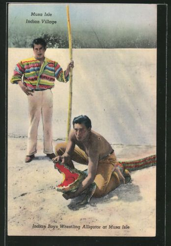 NA Boys Wresteling Alligator at Musa Isle