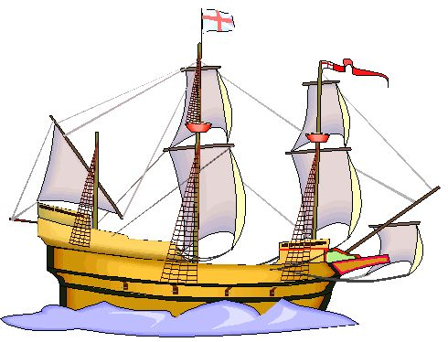 the picture of the Mayflower the kids picked