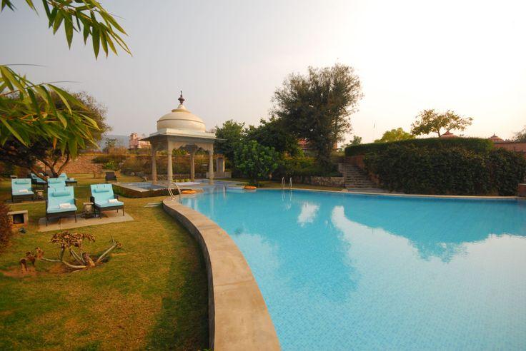 Infinity pool at The Tree of Life resort, Jaipur http://www.treeofliferesorts.com