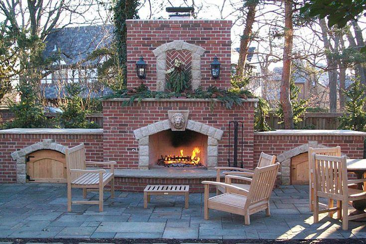 17 best ideas about outdoor fireplace brick on pinterest