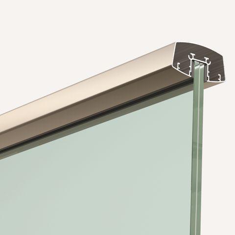 Pasamanos aluminio Inox rectangular