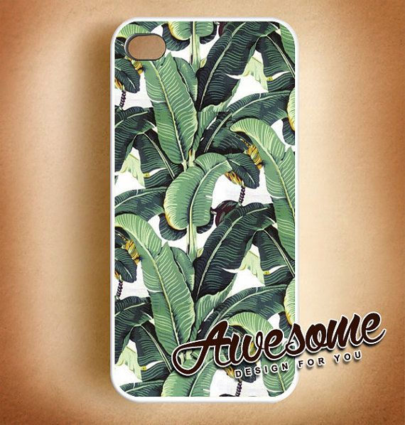#iphone #case #cover #protector #iphone_case #plastic #design #custom #Tropical #Banana_Leaves