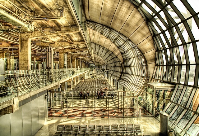 Suvarnabhumi Airport in HDR...Can't began to count how many times I've been here in BKK