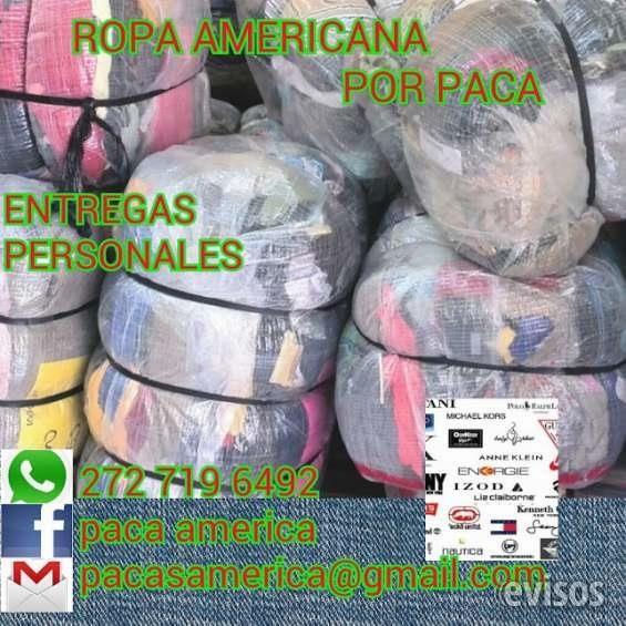 PACA DE ROPA AMERICANA OAXACA  COMIENZA A GANAR DINERO YA!VENDIENDO ROPA AMERICANA, PREGUNTANOS, NOSOTROS TE ASESORAMOS, ROPA ...  http://oaxaca-de-juarez.evisos.com.mx/paca-de-ropa-americana-oaxaca-id-611396