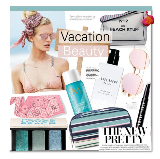 """""""Vacation Beauty"""" by kusja ❤ liked on Polyvore featuring beauty, Forever 21, Bag-All, Bobbi Brown Cosmetics, Beach Riot, Moroccanoil, LeSportsac, Summer, Beauty and vacation"""