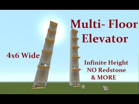 Minecraft Tutorial : Multi Floor Elevator, NO Command Blocks, No redstone CHECK IT OUT ... - YouTube