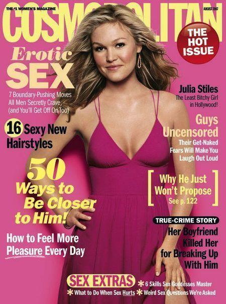 Julia Stiles - Cosmopolitan Magazine [United States] (August 2007)