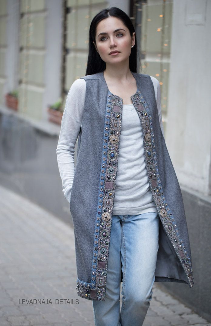 Our embroidered vest, wool and cashmere loro piana. Наш жилет, шерсть с кашемиром loro piana. #levadnajadetails #russian #style #traditions #русскийстиль #традиции
