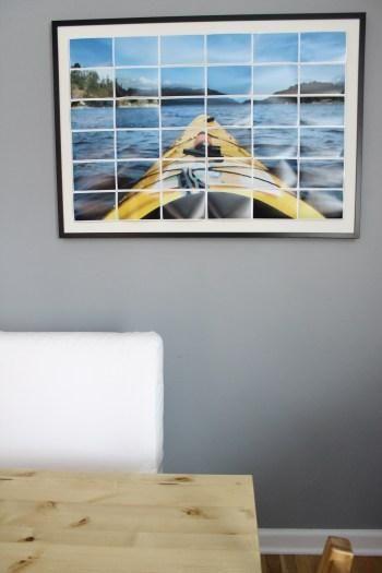 DIY Wall Art : DIY Enlarged Photo Art