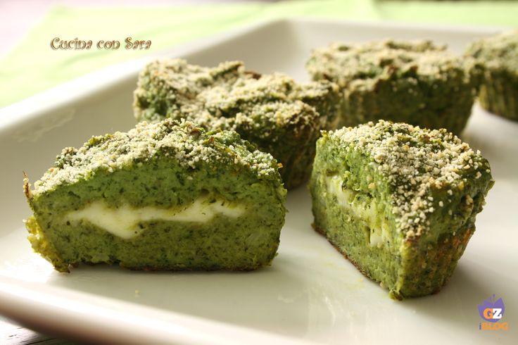Sformato di broccoli con cuore filante, cucina con sara