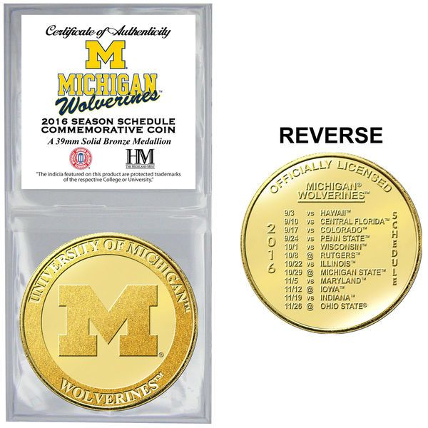 Michigan Wolverines Highland Mint 2016 Schedule Collector Coin - $14.99