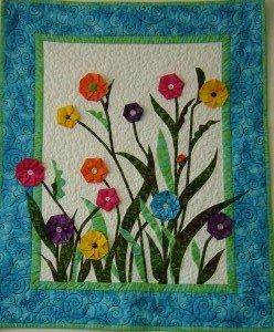 Share Your Mixed-Media Art Slideshow - Quilting Daily: Quilt Ideas, Garden Katlanmış, Flower Art, Art Quilts, Craft Ideas, Flowers Garden, Flower Quilts