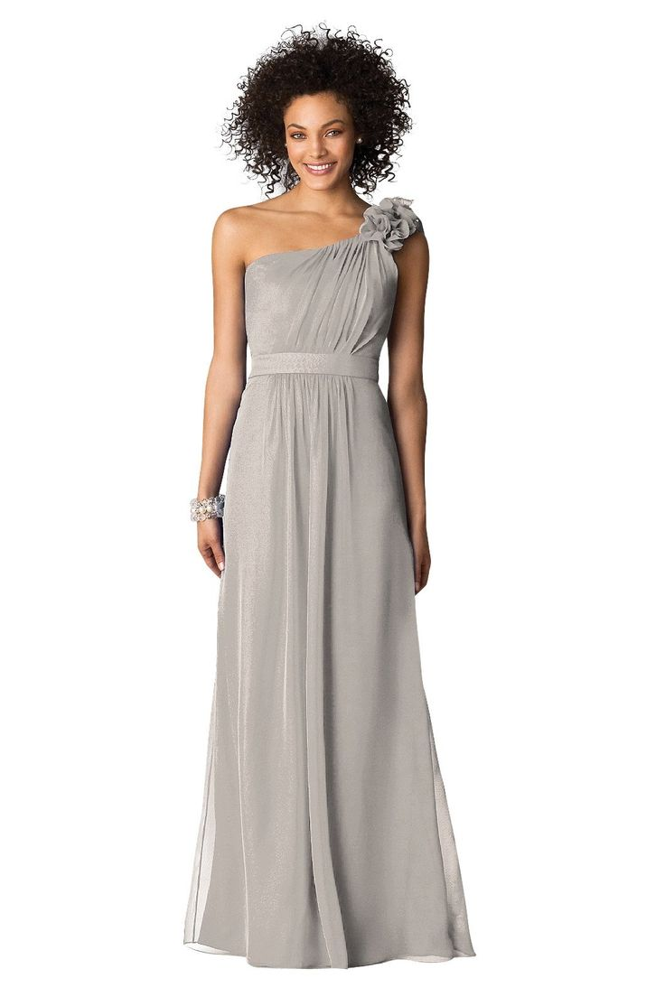 78 best grey bridesmaid dress images on pinterest grey dresses one shoulder lux chiffon long bridesmaid dress with flower detail d661 grey bridesmaidslong bridesmaid dressescharcoal ombrellifo Images
