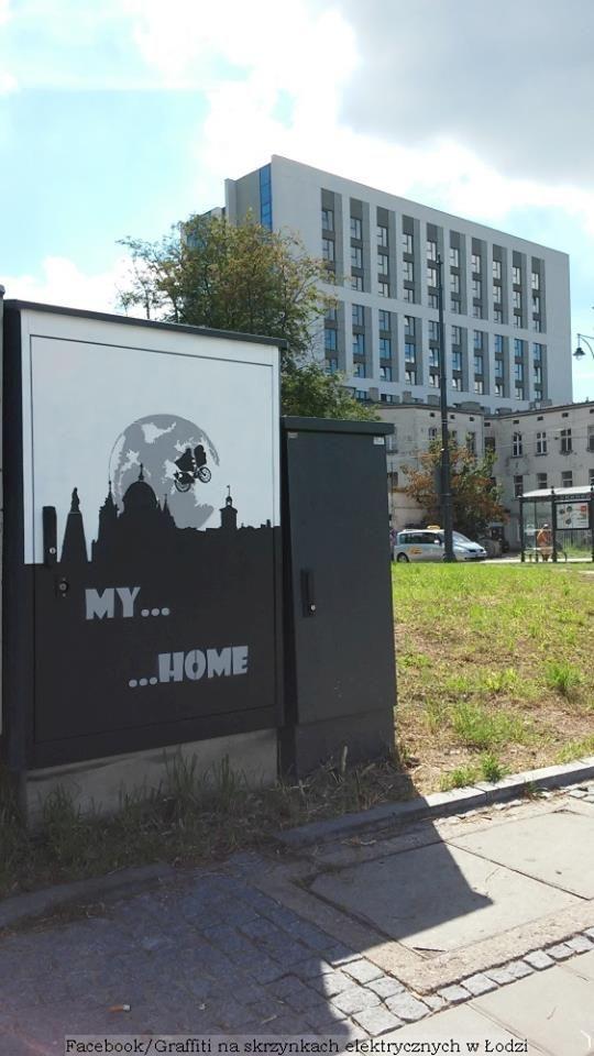 """Poland, Lodz, electrical box, signal box, street art, graffiti, Facebook:""""Graffiti na skrzynkach elektrycznych w Łodzi"""" edycja1"""