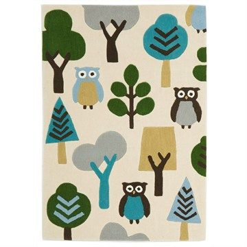 Owl in The Forest Kid Rug - 220x150cm