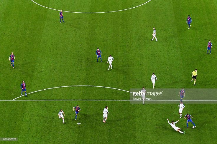 General view of the action during the Copa del Rey round of 32 second leg match between FC Barcelona and Hercules at Camp Nou on December 21, 2016 in Barcelona, Spain.