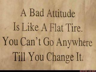 "HOLLA! Honestly, a positive attitude & a little confidence can go a looong way. You're welcome :)    ""A bad attitude is like a flat tire…"""