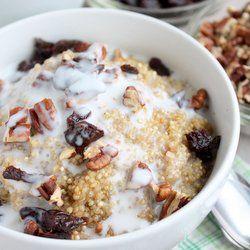 Breakfast Quinoa HealthyAperture.com