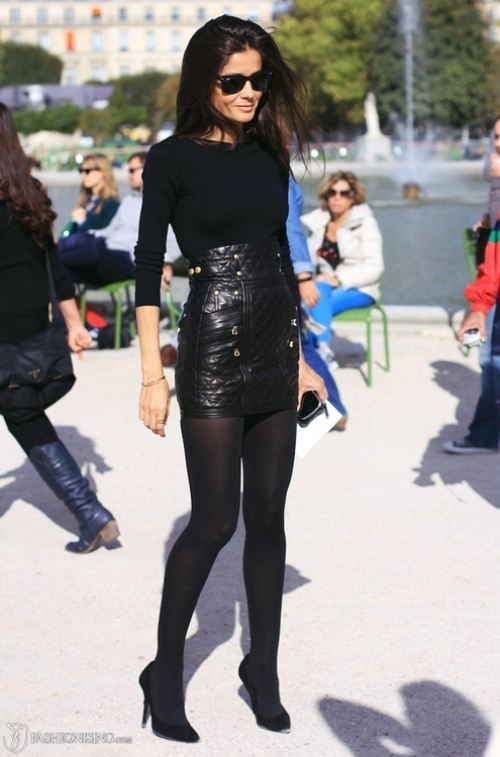 Best 25  Black tights ideas on Pinterest | Black tights outfit ...