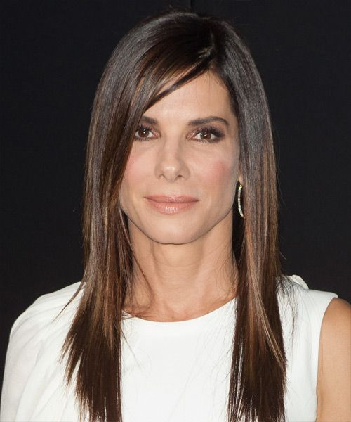 Sandra Bullock Hairstyle - Formal Long Straight. Click on image to try on this hairstyle and view styling steps!