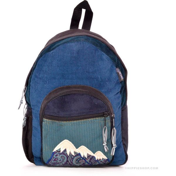 Mountain Corduroy Patchwork Backpack Blue on Sale for $49.99 at The... (1.230 CZK) ❤ liked on Polyvore featuring bags, backpacks, blue backpack, patchwork backpack, hippie backpack, padded bag and zipper bag
