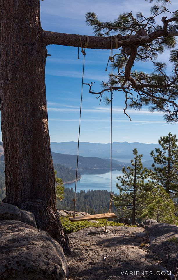 Donner Lake in Donner Pass near Truckee, Nevada, California by Justin Majeczky